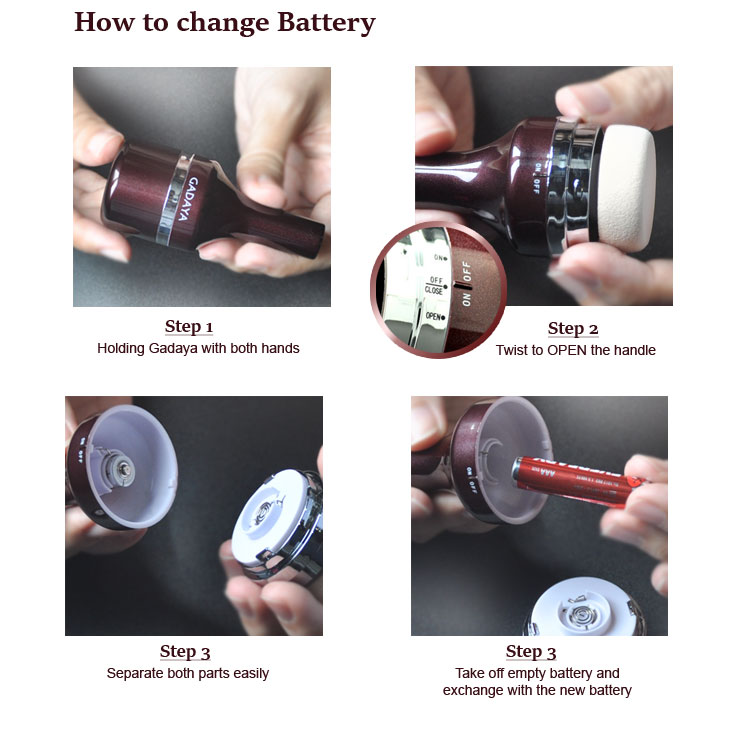 how to change battery for Gadaya