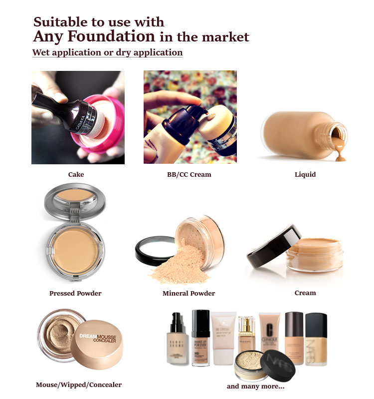 Gadaya is suitable to use with any foundation in the market