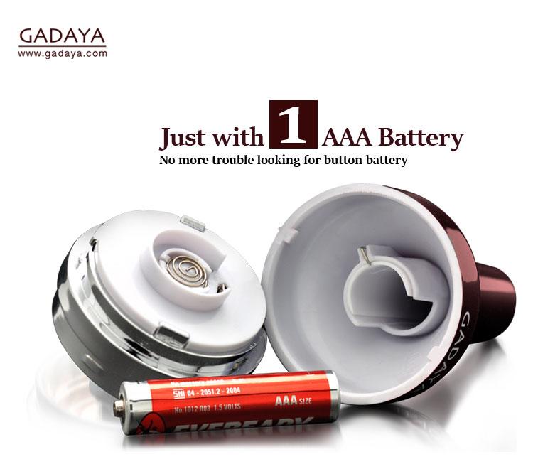 Gadaya using 1 AAA battery to operate